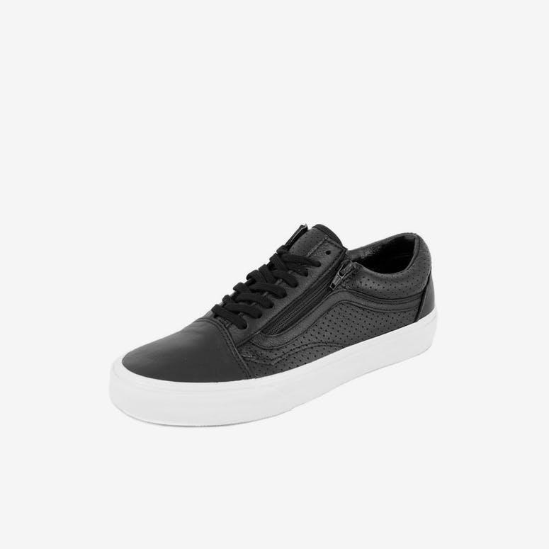 Vans Old Skool Zip Perf Leather Black white – Culture Kings 1df8cbfd3