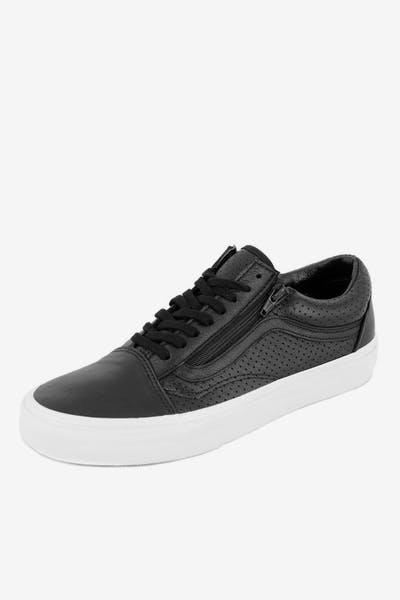 9fd4d418e74 Old Skool Zip Perf Leather Black white