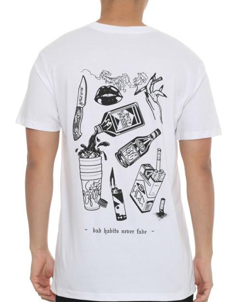 Rgf X HC Bad Habits Tee White