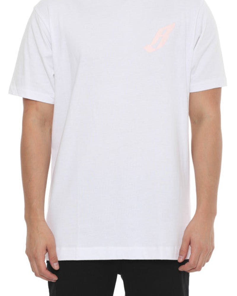 B Logo Short Sleeve Tee White/pink