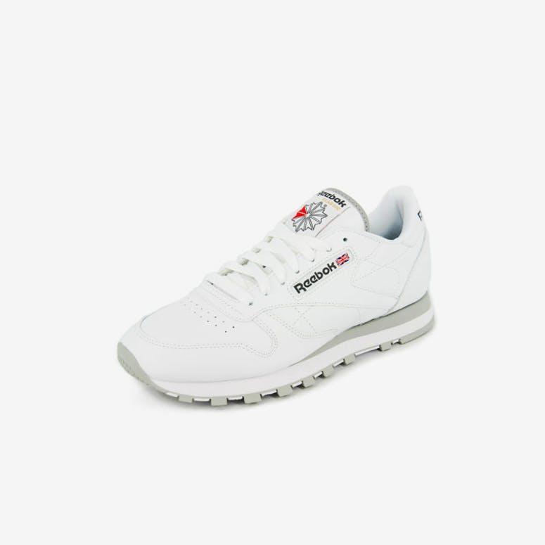 00a3b8db5f43c5 Reebok Classic Leather White grey – Culture Kings
