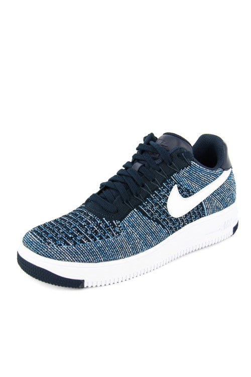culture kings obsidian nike air force flynit lows