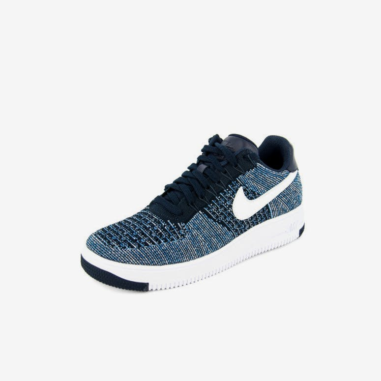 Nike Air Force 1 Ultra Flyknit Low Navy white – Culture Kings 1668396ef