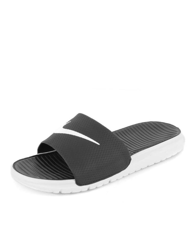 7cca2191eaf7 Nike Benassi Solarsoft Slides Black white – Culture Kings