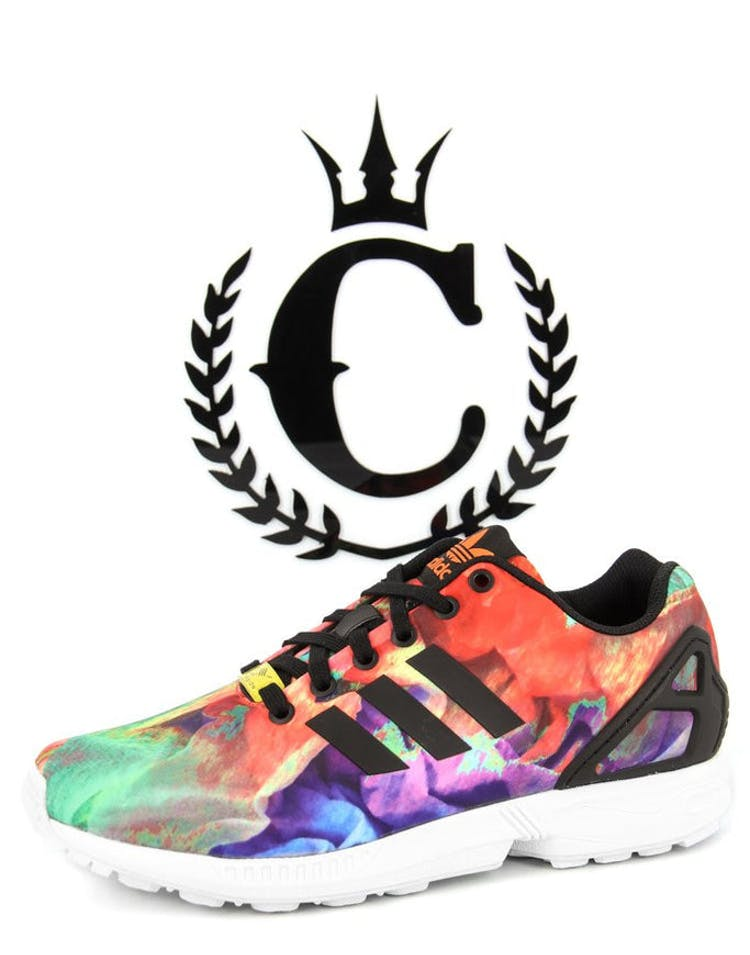 new product d1374 0dba1 Womens ZX Flux Multi-coloured