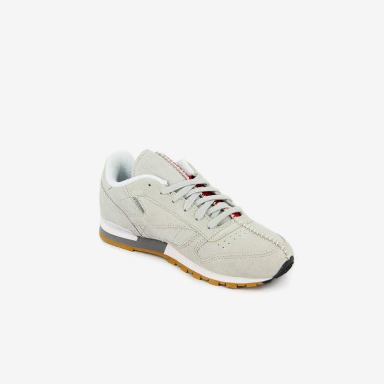 56bc9f9fd9d Reebok CL Leather KL Grade School Grey white gum – Culture Kings