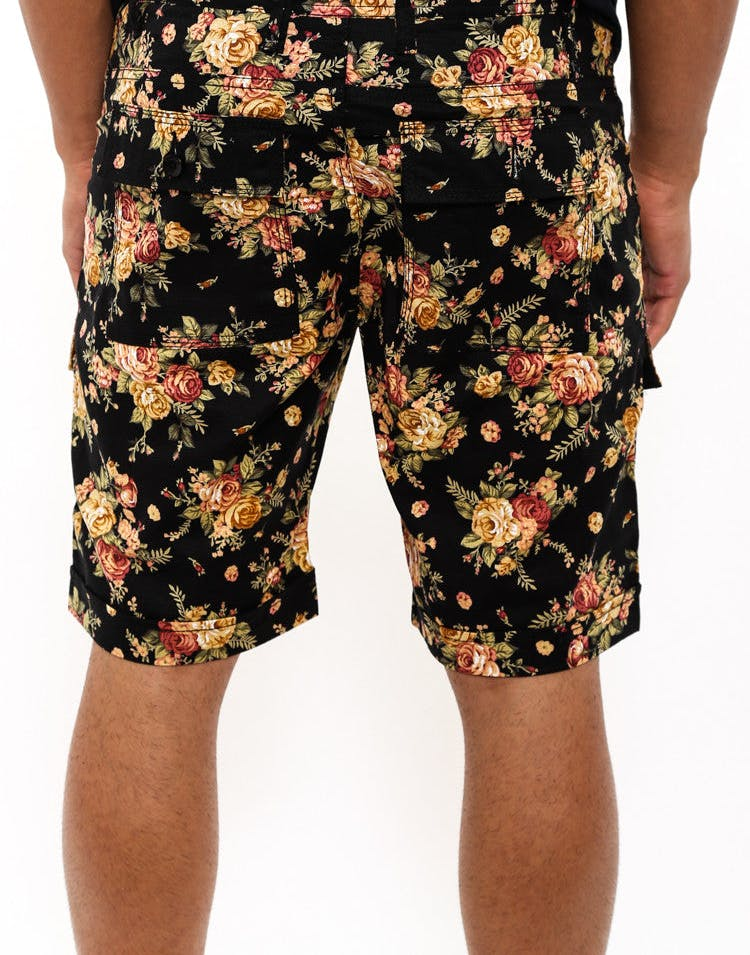 Thorpe Floral Short Black