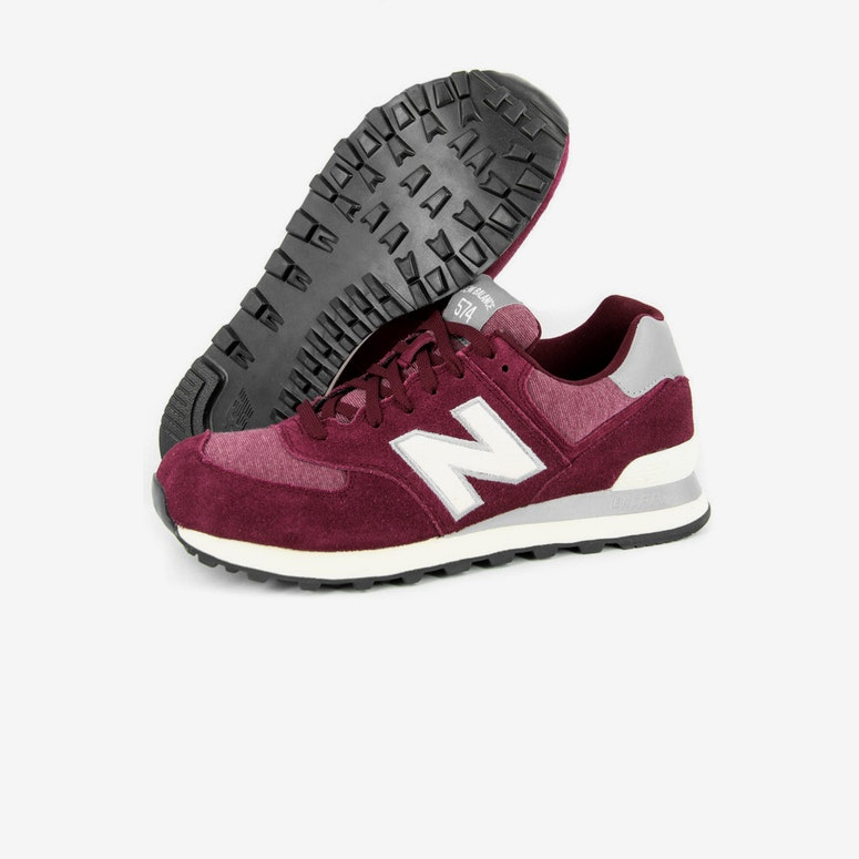 Terry 574 Burgundy/white