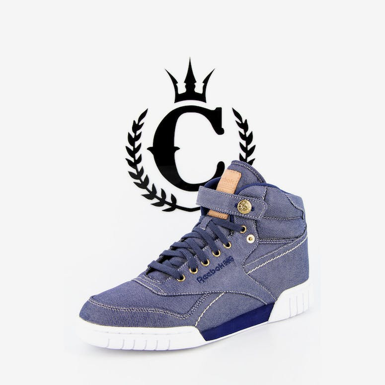Reebok Exofit Plus HI Denim white kha – Culture Kings e4b13b028e26