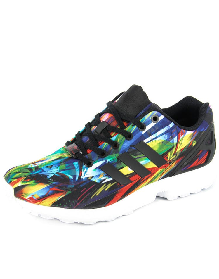 the latest d7f81 c24b0 ZX Flux Black/white/mul