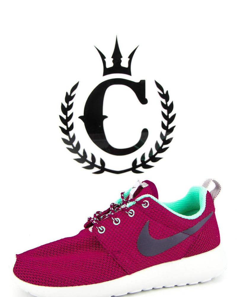 Womens Roshe One Maroon/purple/t