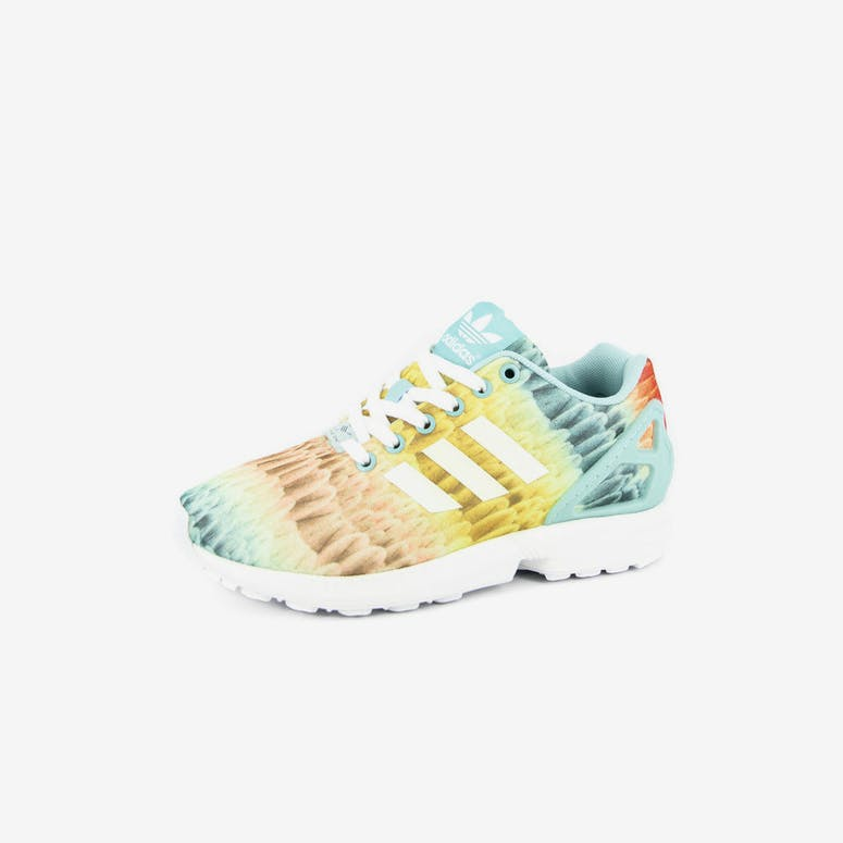 Womens ZX Flux Green/white