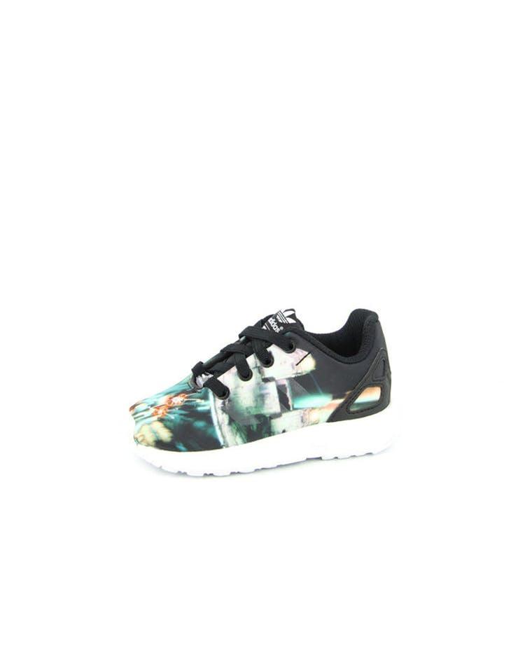 new style 7c1df 77ce2 Adidas Originals ZX Flux MF Kids Black white – Culture Kings