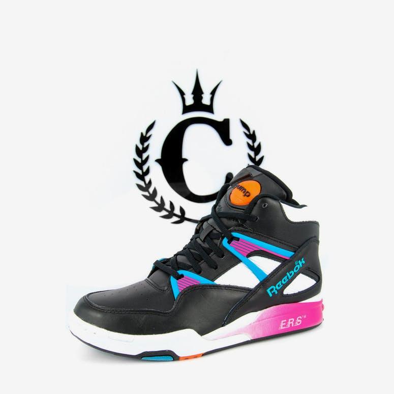 Reebok Pump Omni Zone Retro Black pink blue – Culture Kings 037e2a1b1