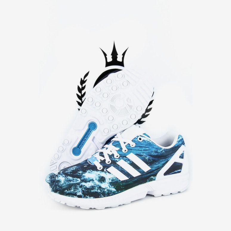 ZX Flux Photo Print Blue/white