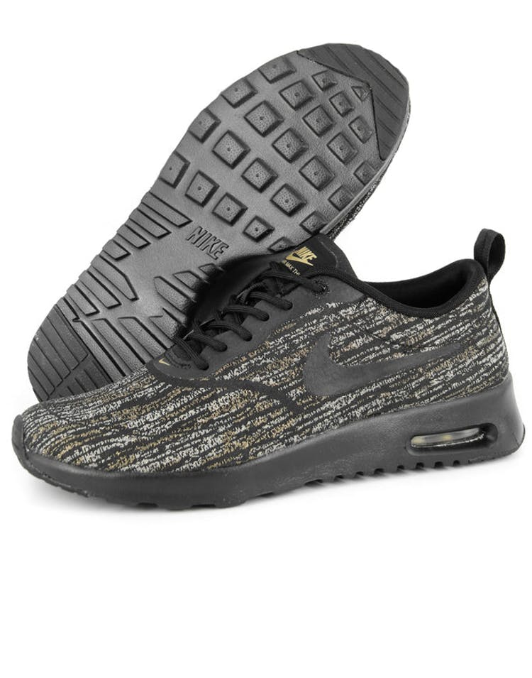 super popular 3d602 5b9fe Nike Womens Air Max Thea Jcrd Black/gold – Culture Kings