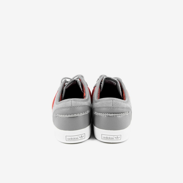 Seeley Boat Shoe Grey/red/white