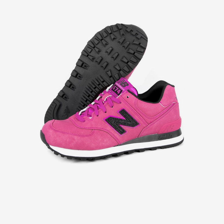 Womens Heavy Metal 574 Pink/black