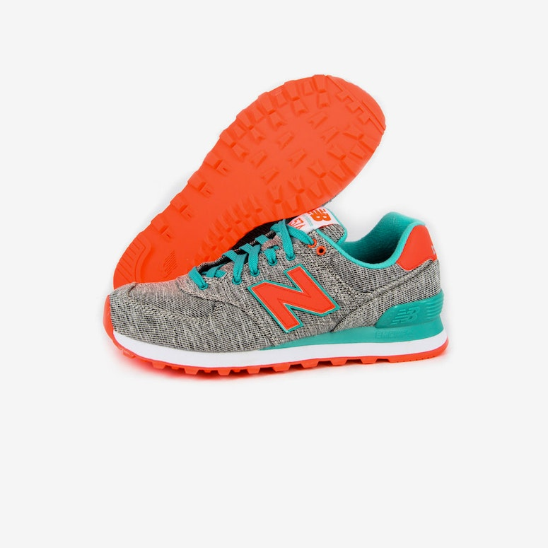 Womens Glitch 574 Turquoise/orang