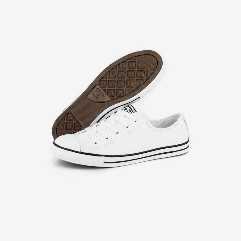 Womens Dainty Leather OX White