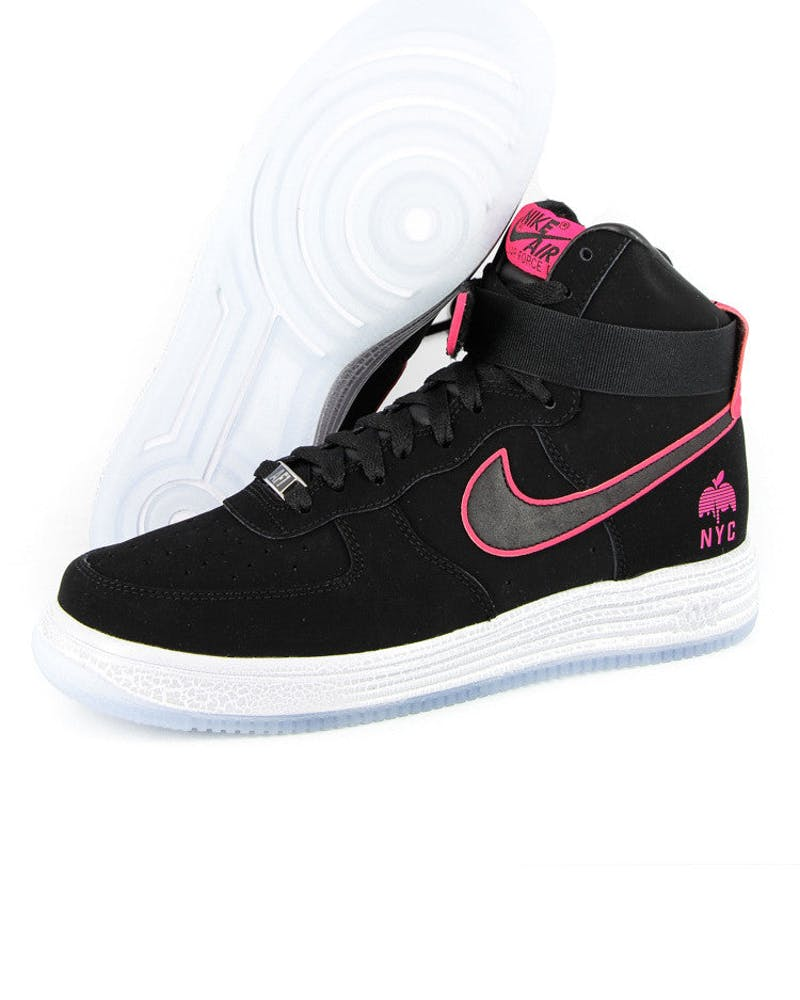 Lunar Force 1 Hyp HI QS Black/pink