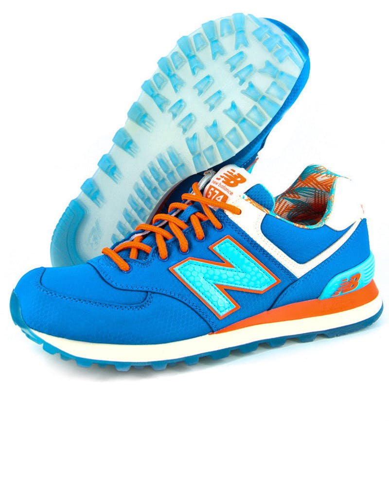 NB 574 Traditionals Royal/orange/wh