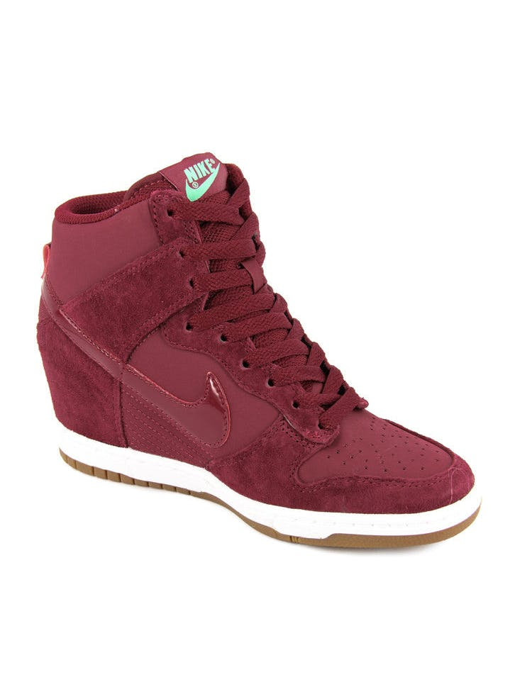 Womens Dunk Sky HI Essent Red/red/brown