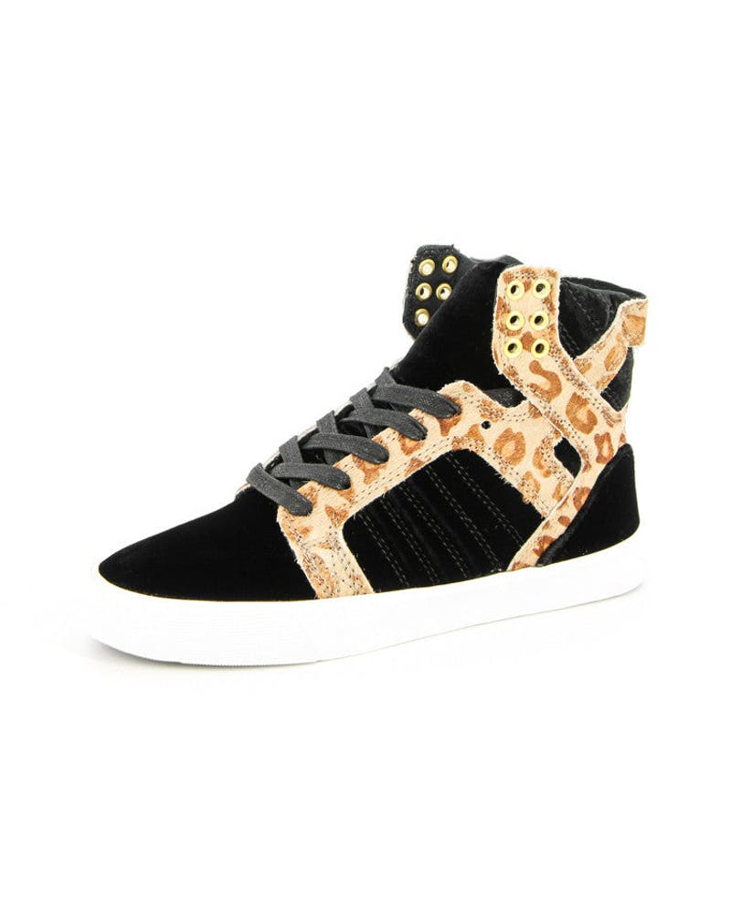 Womens Skytop Black/cheetah/w