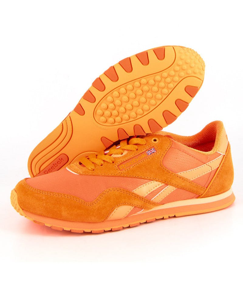 Womens CL Nylon Orange/black