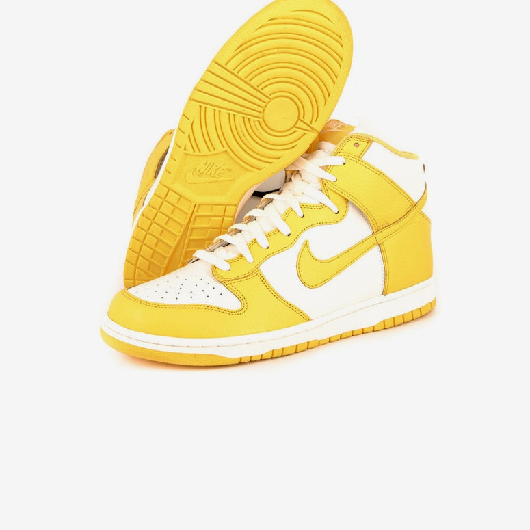 Dunk High S White/yellow
