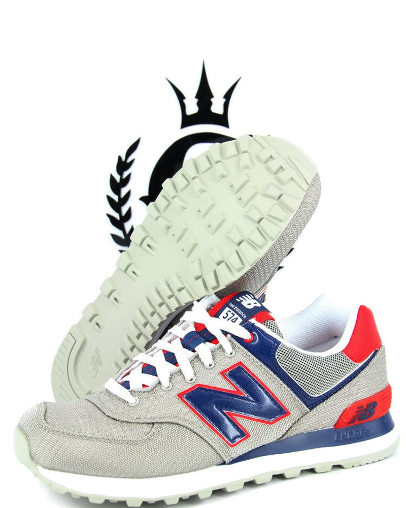 NB 574 Traditionals Grey/blue/red