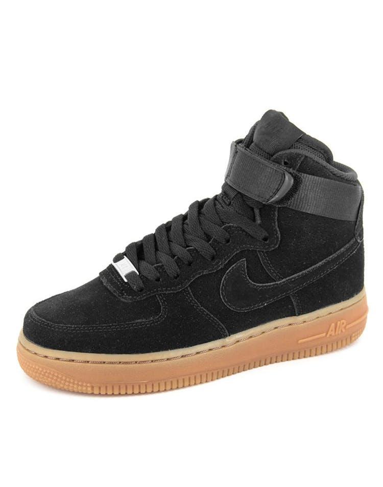 online retailer 5648e 7386c Womens Air Force 1 HI Suede Black/black