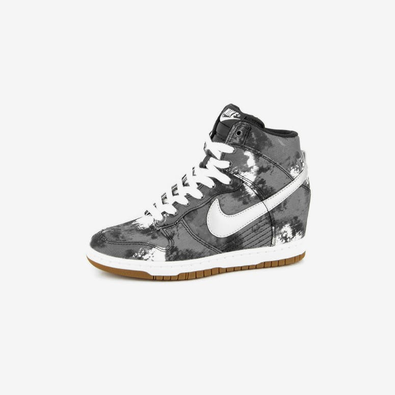 8388fd92f8b3 Nike Womens Dunk Sky HI Print Black silver gr – Culture Kings