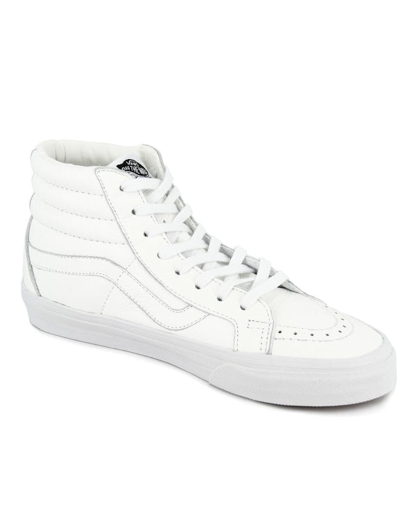 Sk8 HI Reissue Premium Leather White/black