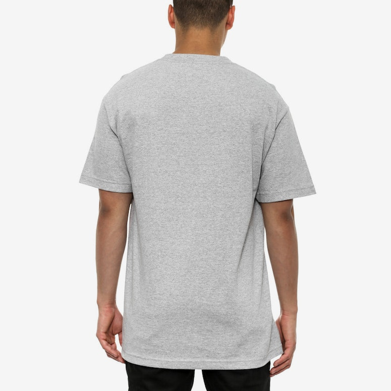 News Print Tee Heather Grey