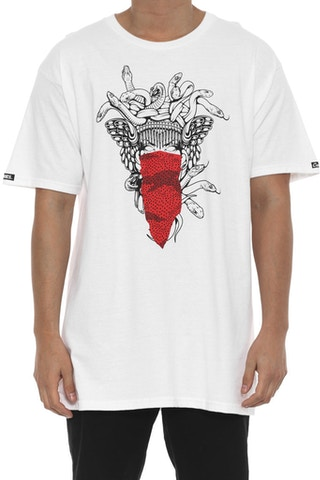 Medusa Speckle Tiger Tee White