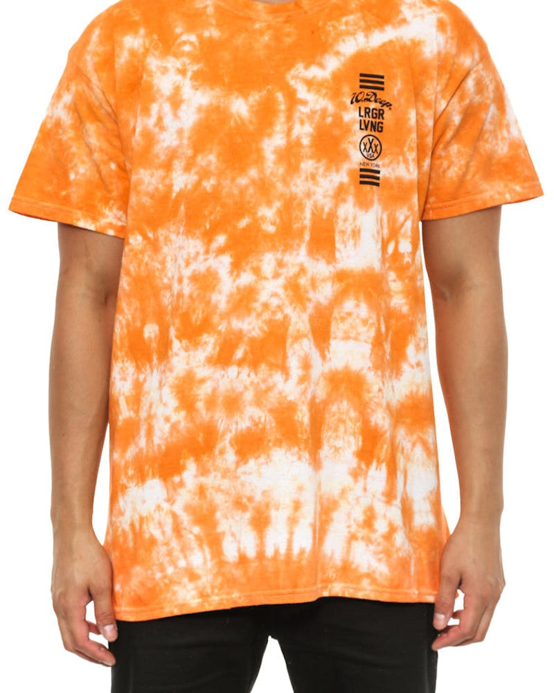 Triple Box Tie Dye Tee Orange