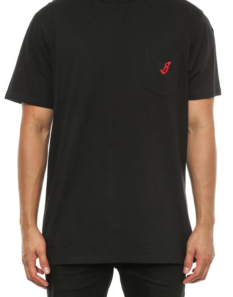 Mini B Pocket Tee Black/red