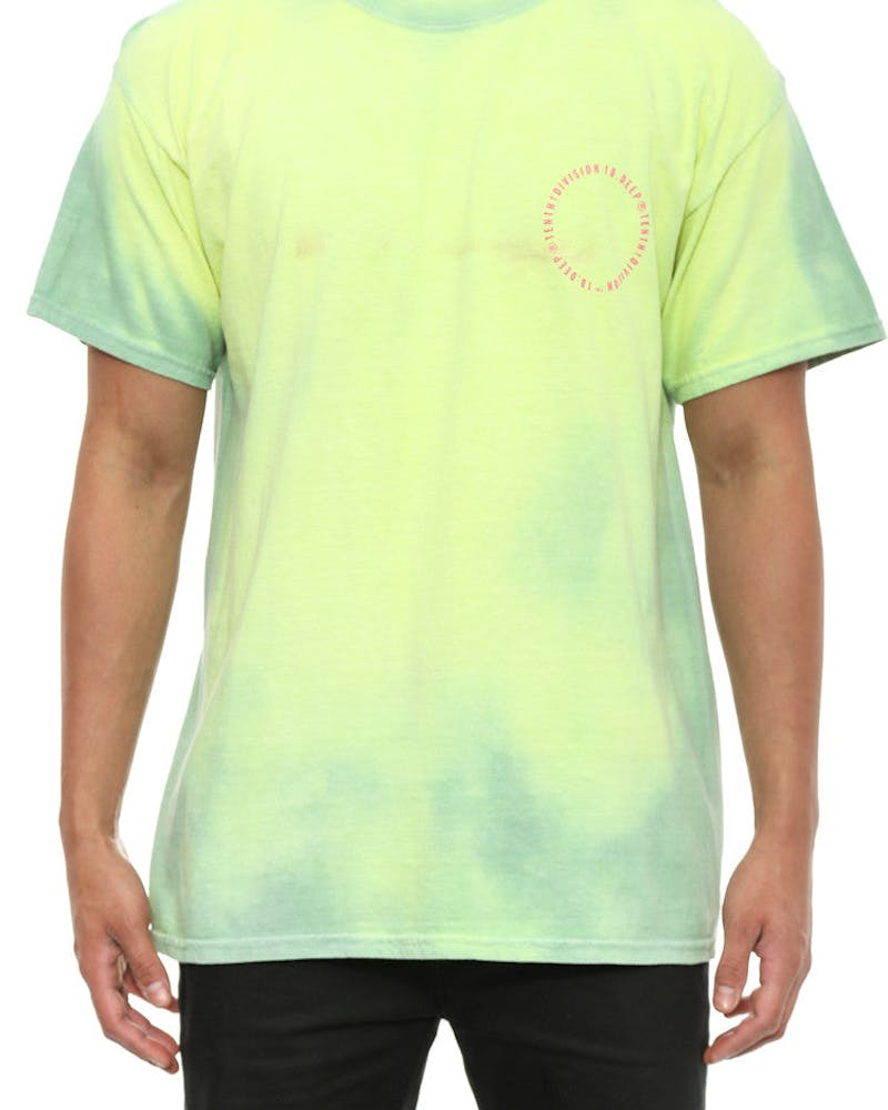Triple Stack React Tee Green/white