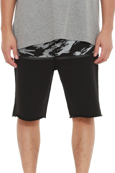 Illusory Sweat Short Black/multi-col