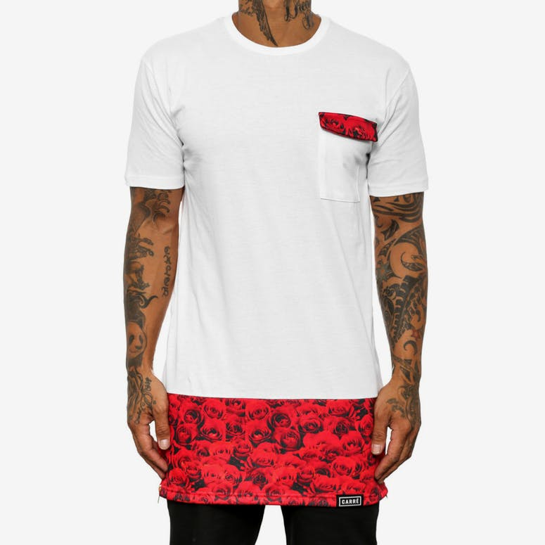 Red Roses Capone Tee White/red