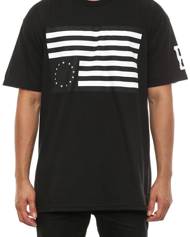 Rebel Flag Tee Black