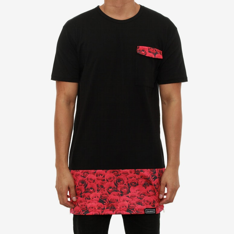 Red Roses Capone Tee Black/red
