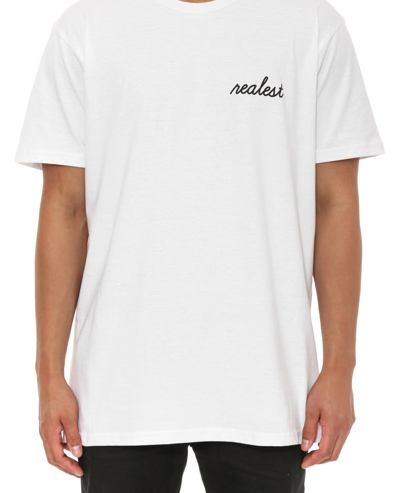 Realest SS Tee White