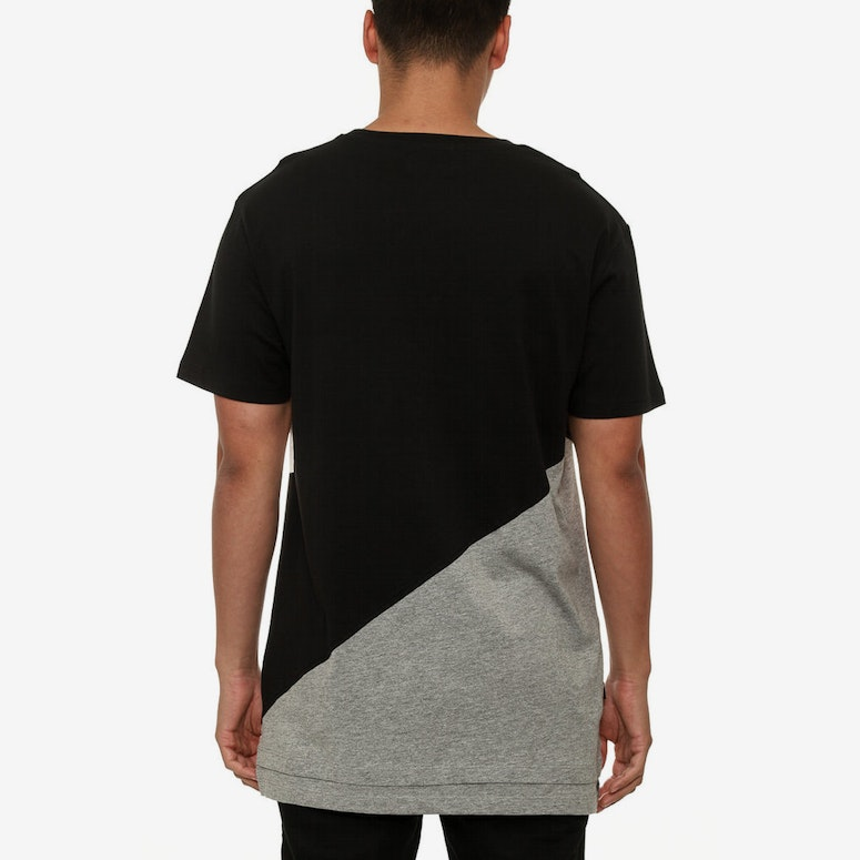 Capital C Diagonal T Black/grey