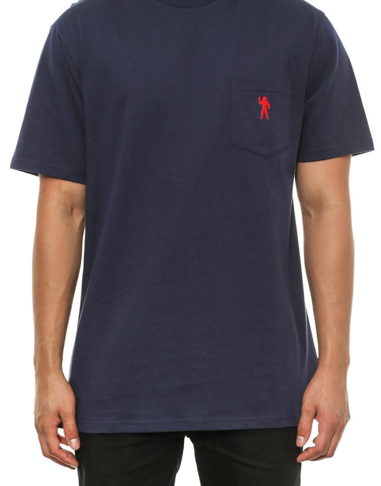 Mini Astro Pocket Tee Navy/red