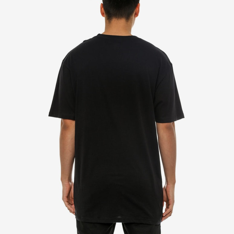 Big Script Reflect Tee Black
