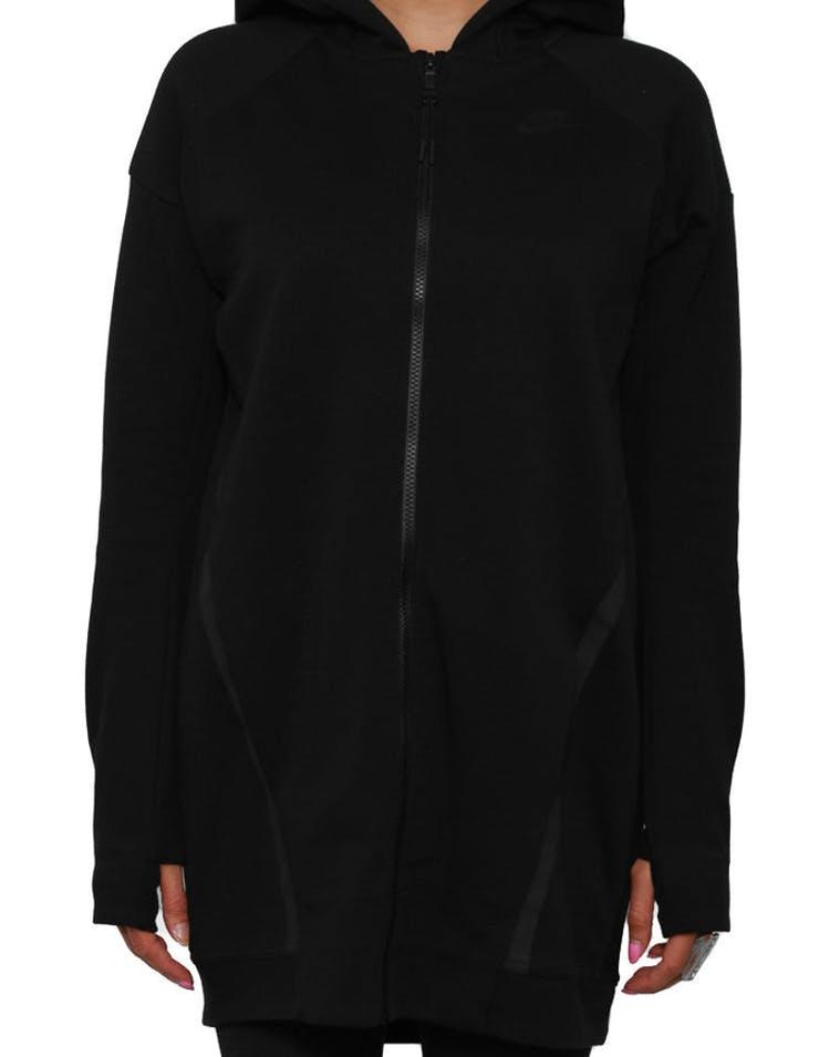 d9c904d66418 Nike Womens Tech Fleece Mesh Jacket Black black – Culture Kings
