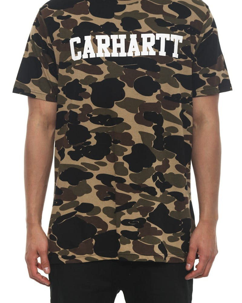 College All Over Tee Camo/white