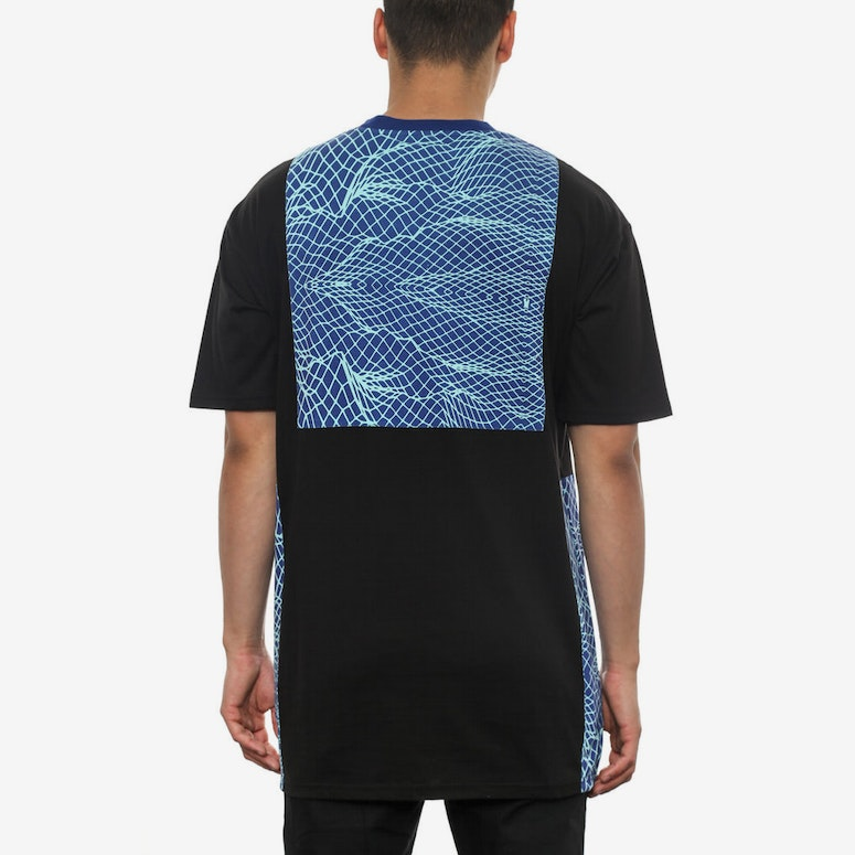 Network Paneled Tee Black/blue